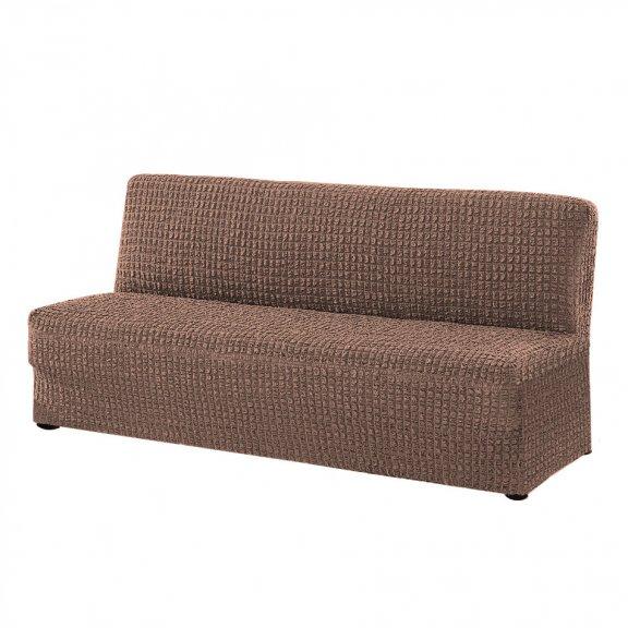 Чехoл на трехместный диван клик-кляк Karteks - Кофейный