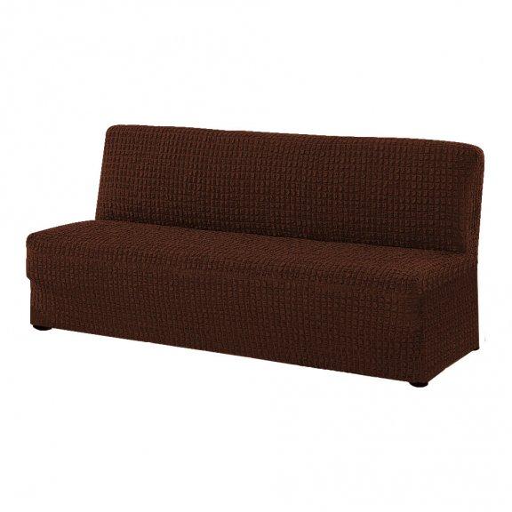 Чехoл на трехместный диван клик-кляк Karbelteks - Шоколадный