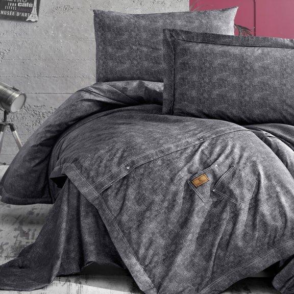 Постельное бельё First Choice Deluxe Евро - Jeans Gri