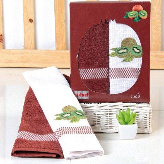 Кухонные полотенце с вышивкой  50x70 - Киви