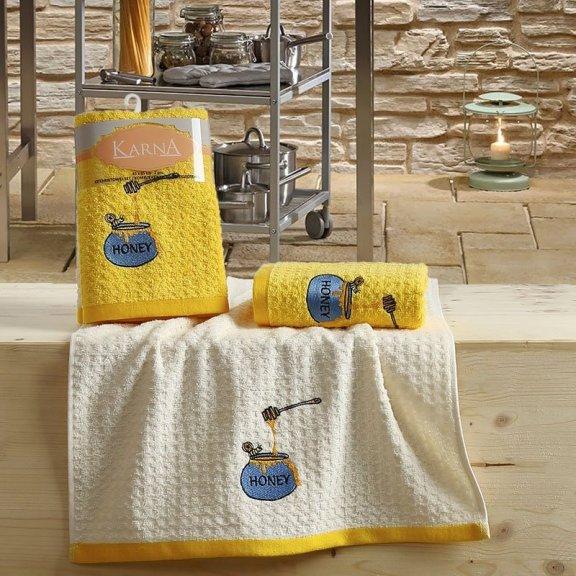 Полотенца махровые Lemon желтые