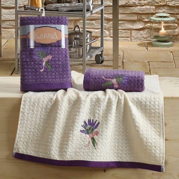 Полотенца махровые Lemon фиолетовые