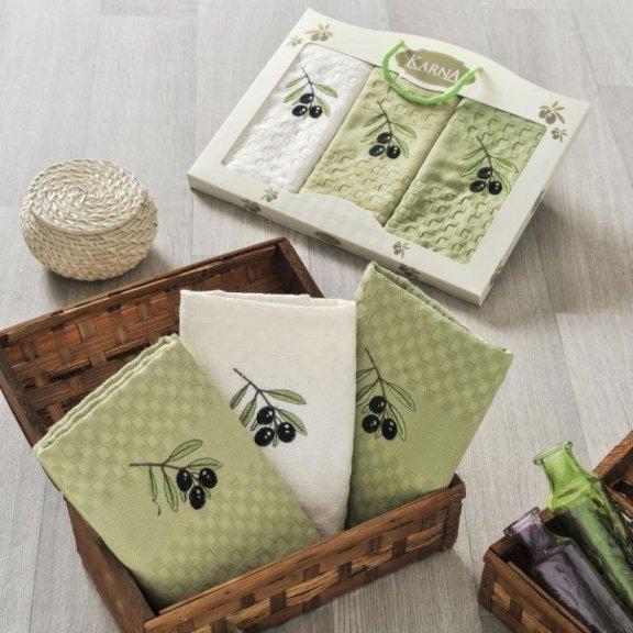 Полотенца для кухни вафельные в коробке - Lama V2