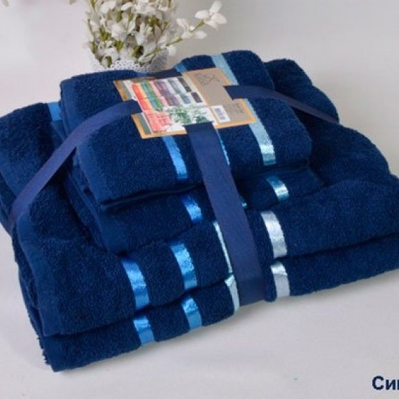 Полотенца махровые Karna Bale - Синий