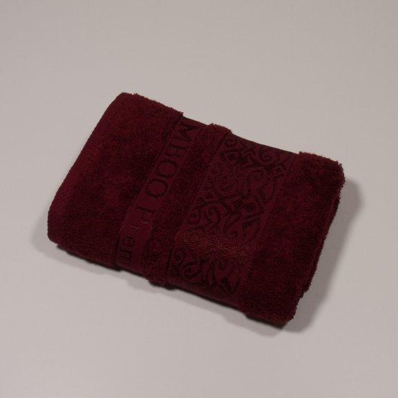 Бамбуковое полотенце Турция Ozkurt Premium 50x90 - Бордовое