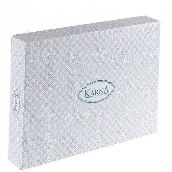 Постельное белье Karna сатин двухстороннее Loft Eвро
