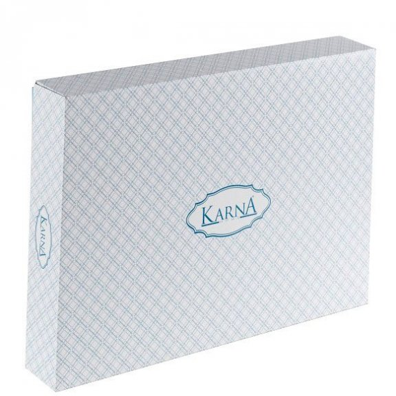 Постельное белье Karna cатин однотонный Loft Полуторное