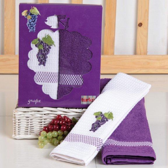 Кухонные полотенце с вышивкой  50x70 - Виноград