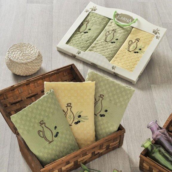 Полотенца для кухни вафельные в коробке - Lama V1