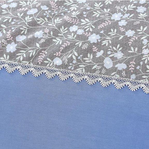 Постельное белье Karteks сатин однотонный с кружевом - двуспальное szv-012