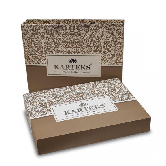 Посительное белье Karteks сатин цветной с окантовкой евро - SOK017