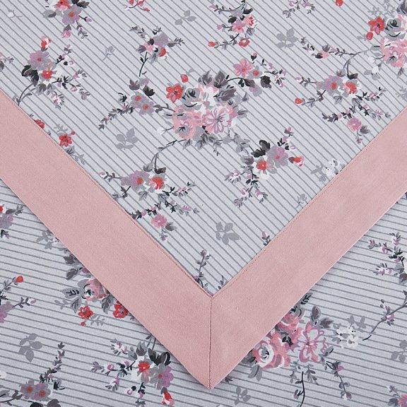 Посительное белье Karteks сатин цветной с окантовкой евро - SOK020