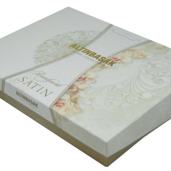 Постельное белье Altinbasak SAYKA cатин Eвро - Грязно-розовый