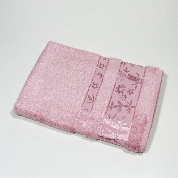 Бамбуковое полотенце Турция Passionesa Aura 70x140 - Пудра