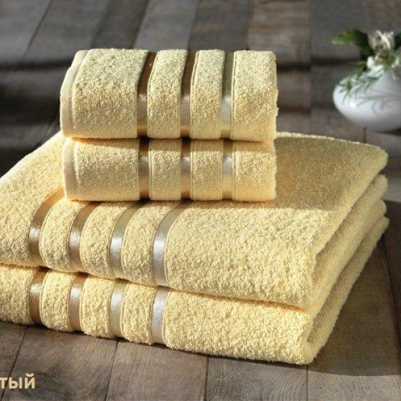 Полотенца махровые Karna Bale - Жёлтый