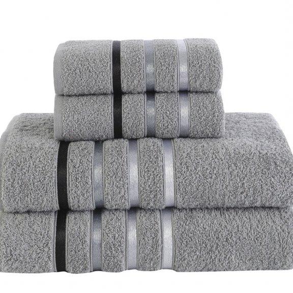 Полотенца махровые Karna Bale - Серый