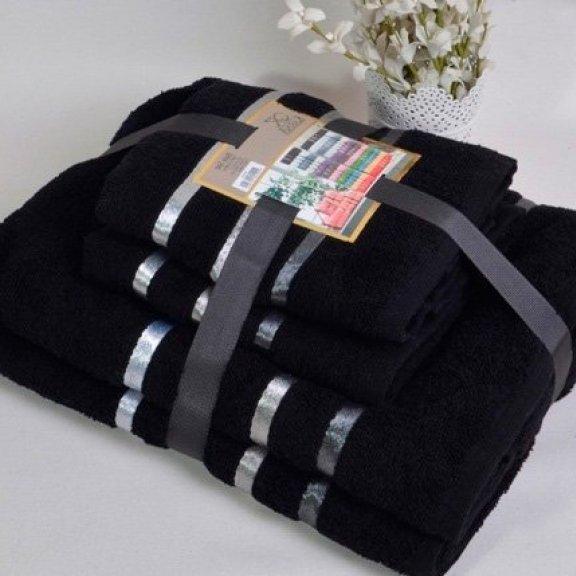 Полотенца махровые Karna Bale - Черное
