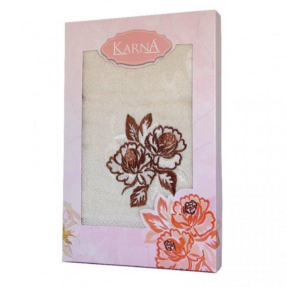 Полотенце Karna Dita - Кремовое махровое подарочное