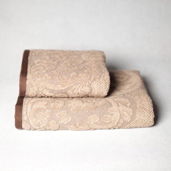 Полотенце махровое Azra 70x140 - Коричневое