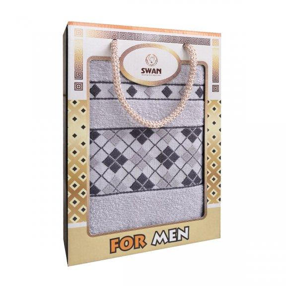 Полотенце 50х90 для мужчин for men - Серое