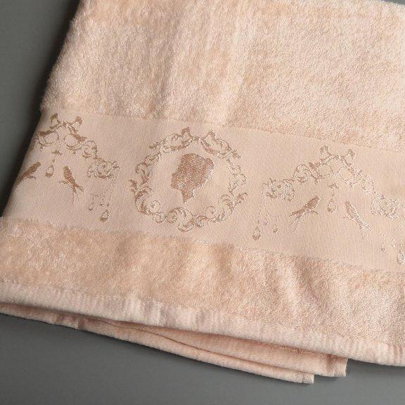 Бамбуковое полотенце Турция Passionesa Madam 50x90 - Абрикос
