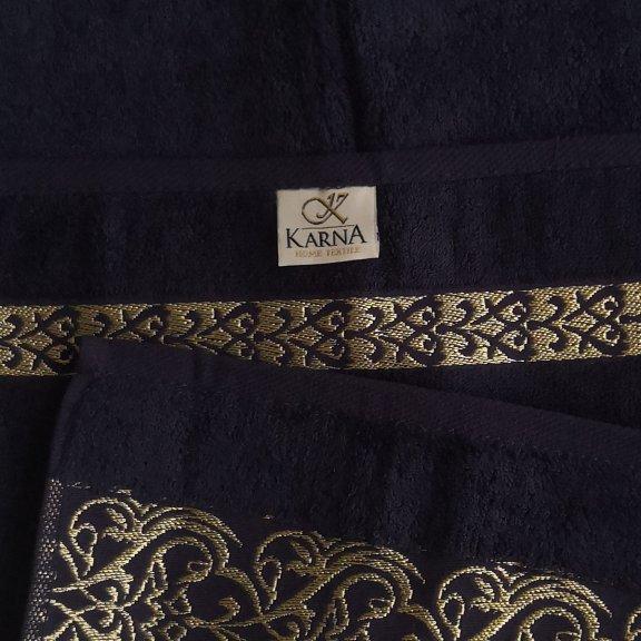 Полотенца из бамбука Karna Helen 50x90 - Синее