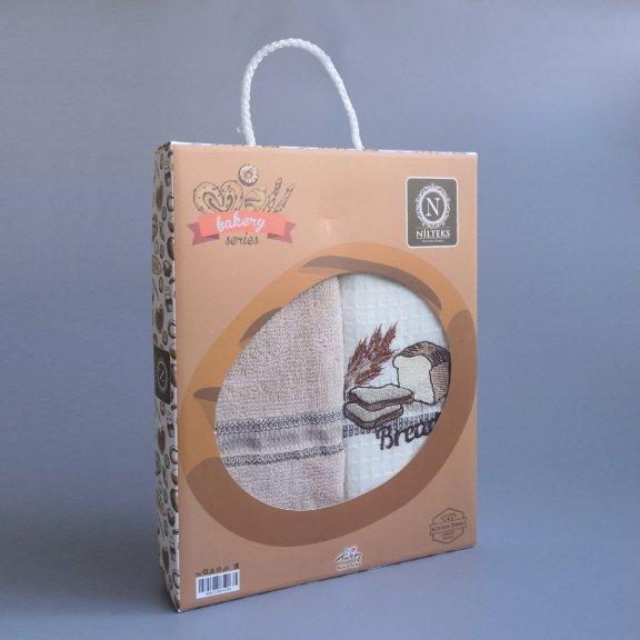 Кухонные полотенце с вышивкой Nilteks Fresh 40x60 - Хлеб
