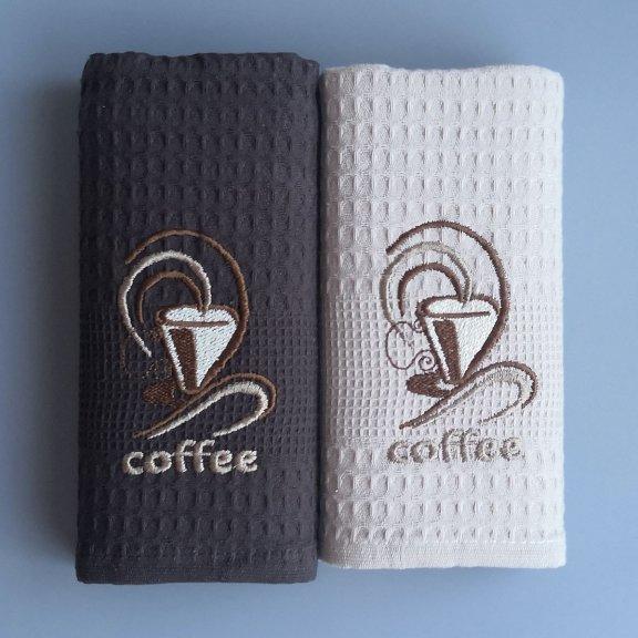Кухонные полотенца вафельные Bella Carine 40x60 - Кофе