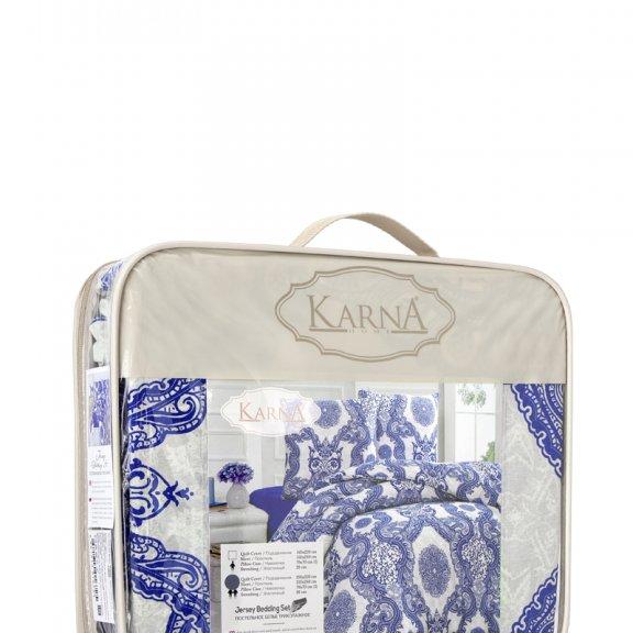 Постельное белье Karna трикотажное Евро LAMAR