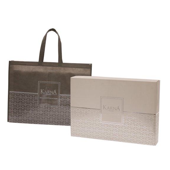Постельное белье Karna сатин печатный KUBA Eвро