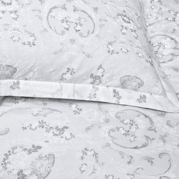 Постельное белье Karna сатин печатный AFINA полуторное