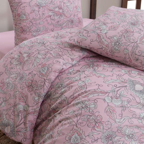Постельное белье Karna бязь ROSINA Eвро (Розовый)