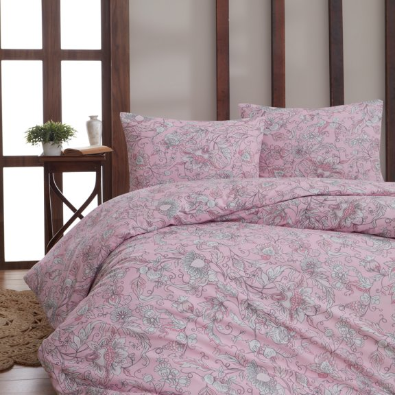Постельное белье Karna бязь ROSINA Семейное (Розовый)