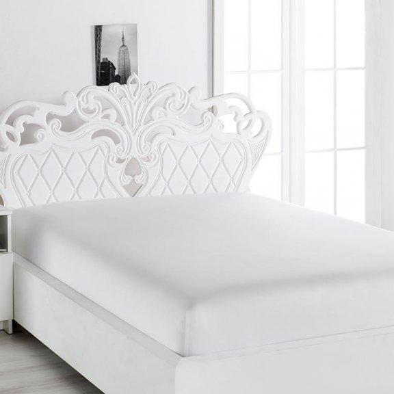 Простынь на резинке сатин Karna Loft 160x240 - Белая