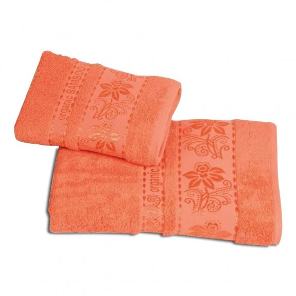 Бамбуковое полотенце Турция Cestepe Organic 70x140 - Коралловое