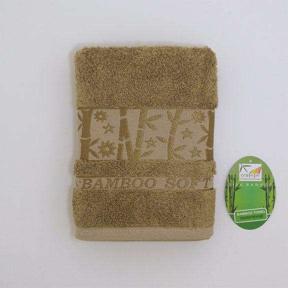 Бамбуковое полотенце Турция Cestepe Agaс - 50x90 - Хаки