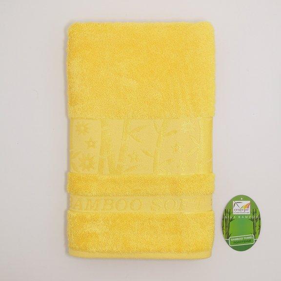Бамбуковое полотенце Турция Cestepe Agaс - 70x140 - Желтое
