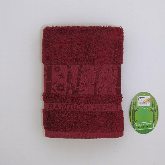 Бамбуковое полотенце Турция Cestepe Agaс - 50x90 - Бордовое