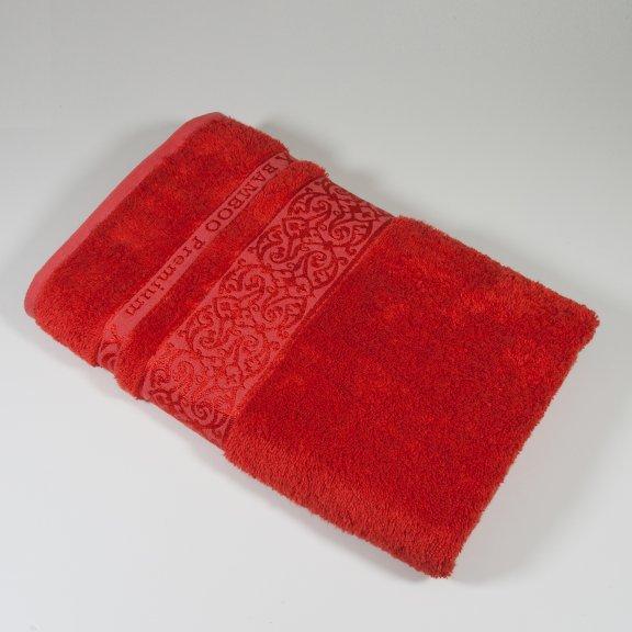 Бамбуковое полотенце Турция Cestepe Premium 70x140 - Красное