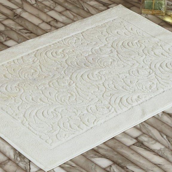 Коврик махровый KARNA ESRA (50x70) см - Кремовый