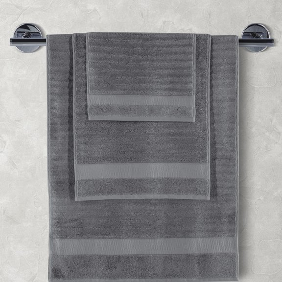 Полотенца махровое KARNA FLOW 70х140 см - Темно-Серый