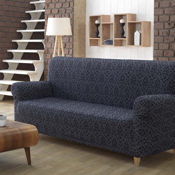 Чехол для дивана KARNA двухместный ,без юбки MILANO - Aнтрацит