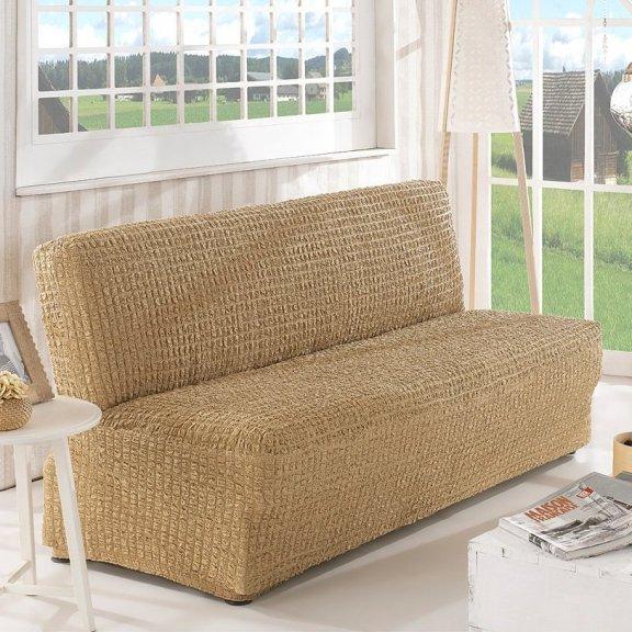 Чехoл на двухместный диван клик-кляк Karna - Бежевый