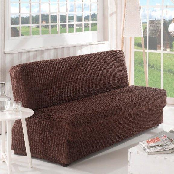 Чехoл на двухместный диван клик-кляк Karna - Коричневый
