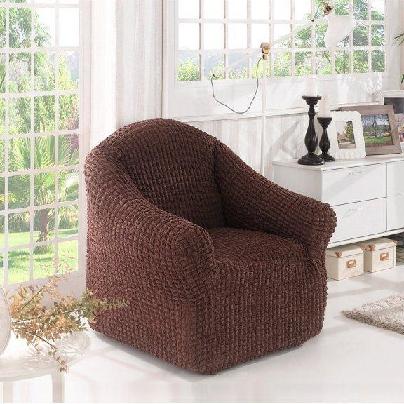 Чехол на кресло Karna - Коричневый