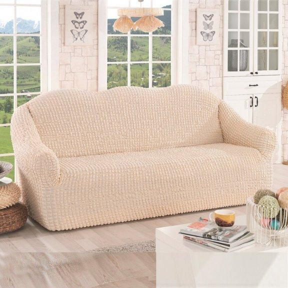 Чехол на диван двухместный Karna Турция - Натурал