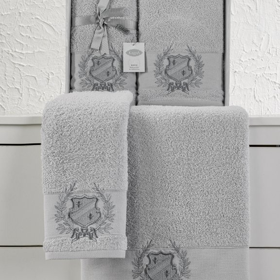 Комплект махровых полотенец Karna Davis 50x90 - 70х140 - Серый